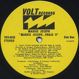 Margie Joseph / Phase II label