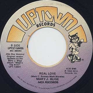 Mary J. Blige / Real Love c/w (Hip Hop Ver.) back
