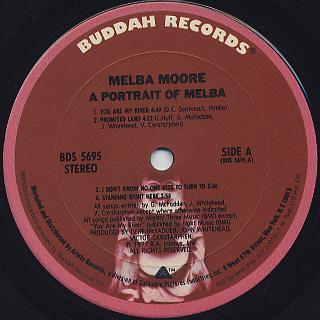 Melba Moore / A Portrait Of Melba label