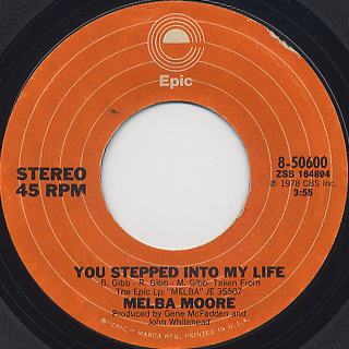 Melba Moore / You Stepped Into My Life c/w There's No Other Like You