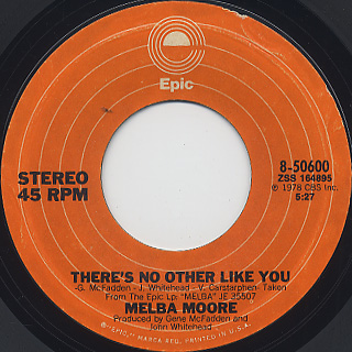 Melba Moore / You Stepped Into My Life c/w There's No Other Like You back