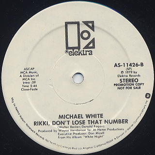 Michael White / I Was Made To Love Him label