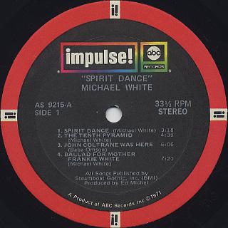 Michael White / Spirit Dance label