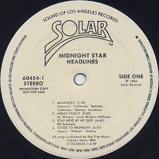 Midnight Star / Headlines label