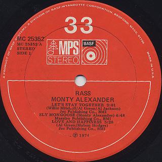 Monty Alexander / Rass! label