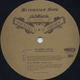 Nuyorican Soul Featuring Jocelyn Brown / It's Alright, I Feel It! label