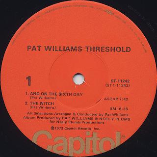 Pat Williams / Threshold label