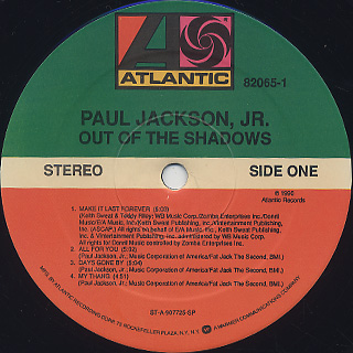 Paul Jackson, Jr. / Out Of The Shadow label