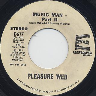 Pleasure Web / Music Man(Part I & II) back
