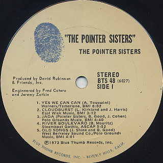 Pointer Sisters / S.T. label