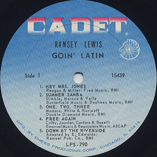 Ramsey Lewis / Goin' Latin label