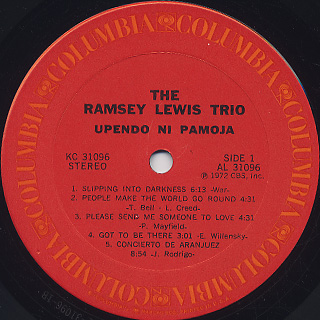 Ramsey Lewis Trio / Upendo Ni Pamoja label