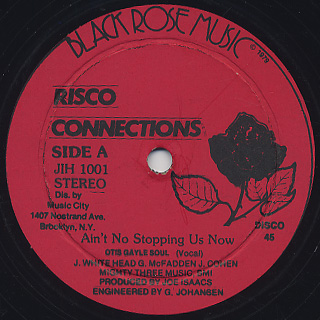 Risco Connection / Ain't No Stopping Us Now front