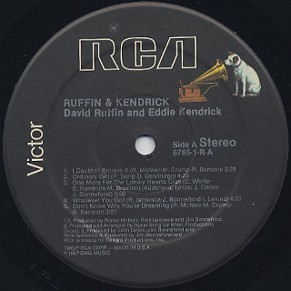 Ruffin & Kendricks / S.T. label