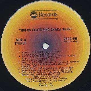 Rufus featuring Chaka Khan / S.T. label