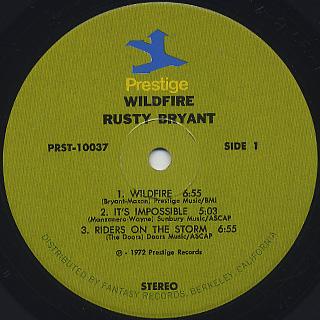 Rusty Bryant / Wild Fire label