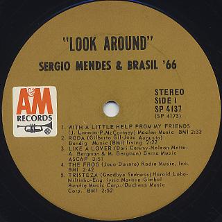 Sergio Mendes & Brasil '66 / Look Around label