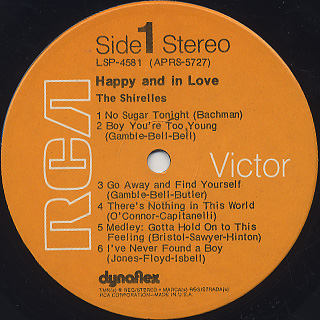 Shirelles / Happy And In Love label