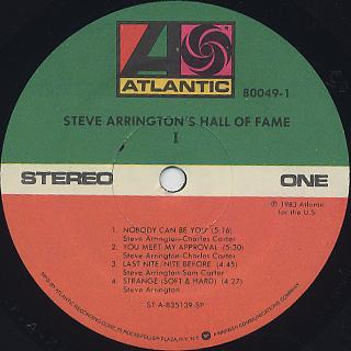 Steve Arrington's Hall Of Fame - I