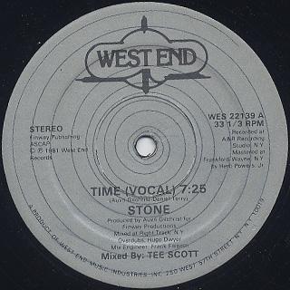 Stone / Time c/w Time (Instrumental) back