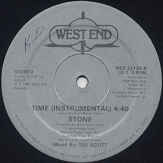 Stone / Time c/w Time (Instrumental) label