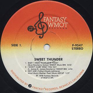 Sweet Thunder / S.T. label