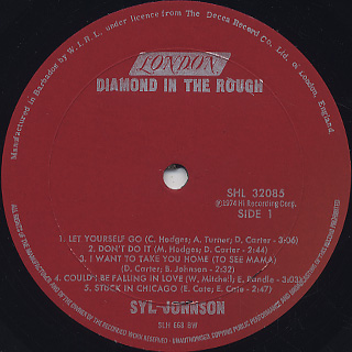 Syl Johnson / Diamond In The Rough label