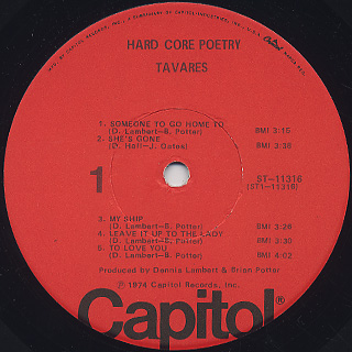 Tavares / Hard Core Poetry label