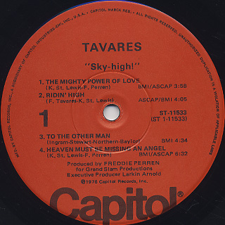 Tavares / Sky HIgh ! label