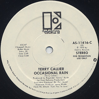 Terry Callier / Sign Of The Times c/w Occasional Rain label