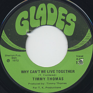 Timmy Thomas / Why Can't We Live Together c/w Funky Me front