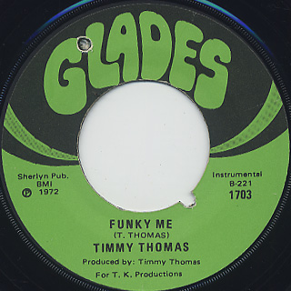 Timmy Thomas / Why Can't We Live Together c/w Funky Me back