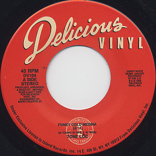 Tone-Loc / Funky Cold Medina (45) label