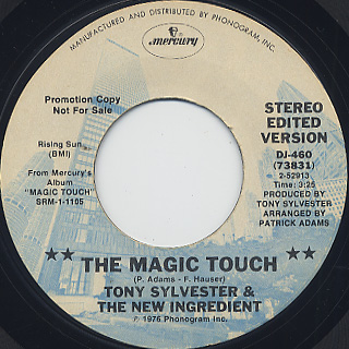 Tony Sylvester and The New Ingredient / The Magic Touch (45) back
