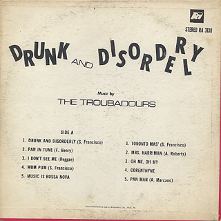 Troubadours / Drunk And Disorderly back