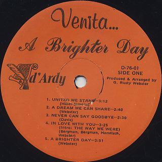 Venita / A Brighter Day label