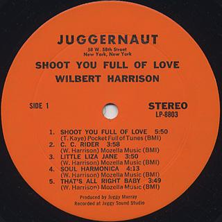 Wilbert Harrison / Shoot You Full Of Love label