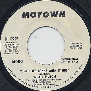 Willie Hutch / Brother's Gonna Work It Out back