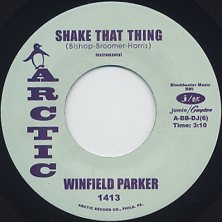 Winfield Parker / Shake That label