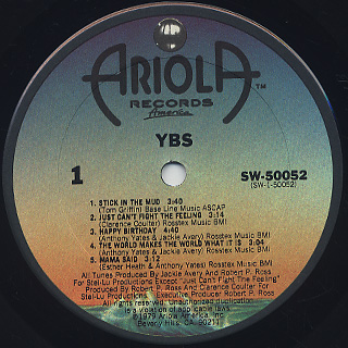 YBS (Yates Brothers & Sisters) / S.T. label