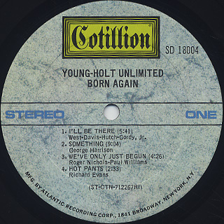 Young-Holt Unlimited / Born Again label