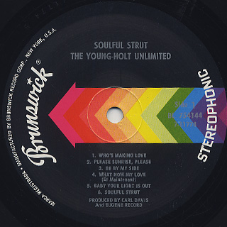 Young-Holt Unlimited / Soulful Strut label