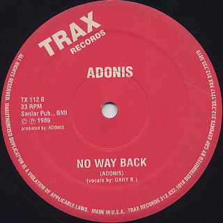 Adonis / No Way Back back