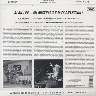 Alan Lee / An Australian Jazz Anthology back