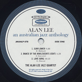 Alan Lee / An Australian Jazz Anthology label