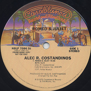 Alec R. Costandinos & The Syncophonic Orchestra / Romeo & Juliet label