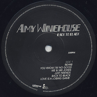 Amy Winehouse / Back To Black -Deluxe Edition label