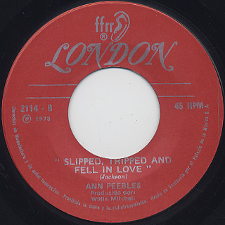 Ann Peebles / I've Been There Before c/w Slipped, Tripped And Fell In Love back