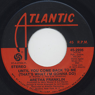 Aretha Franklin / If You Don't Think c/w Until You Come Back To Me