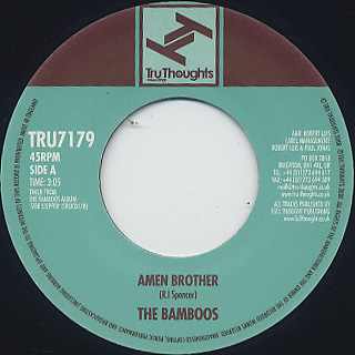 Bamboos / Amen Brother c/w Tears Cried